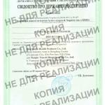 Свидетельство о регистрации Active oxygen & Negative ion «AIRIZ» фото