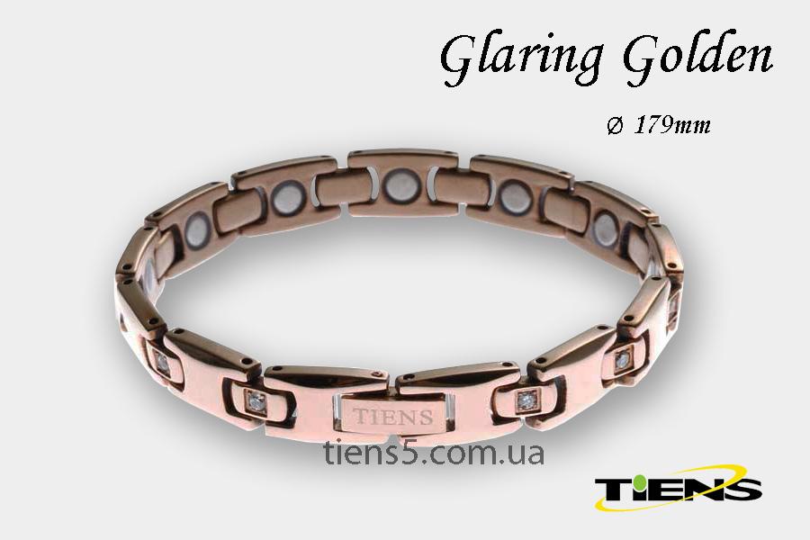 Эффектный золотистый титановый браслет Glaring Golden (для женщин) фото