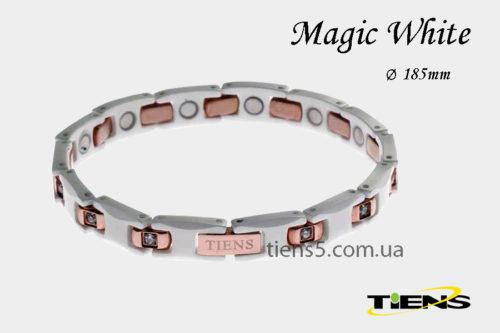 Белый титановый браслет Magic White (для женщин) фото