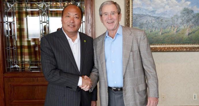 Встреча г-на Ли Цзиньюаня с экс-президентом США г-ном Дж.Бушем фото