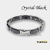 Титановый браслет Тяньши Crystal Black (для мужчин) фото