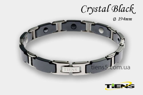 Кристально-черный титановый браслет Crystal Black (для мужчин) фото